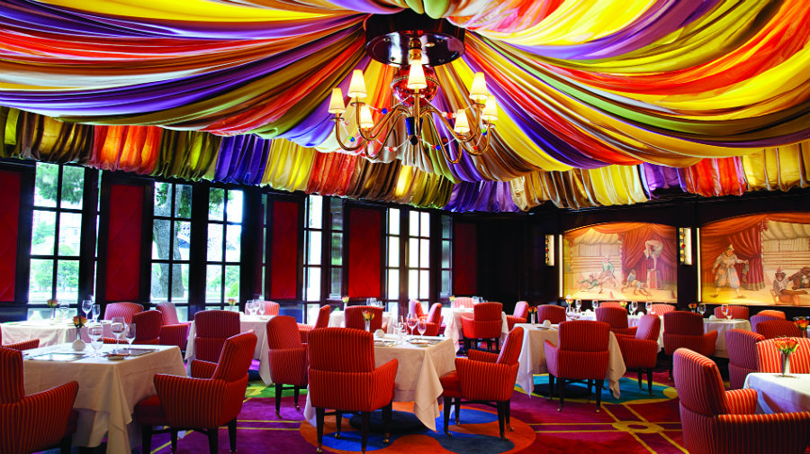 Le Cirque restaurant at Bellagio by Adam Tihany Design - Most expensive restaurants in Las Vegas