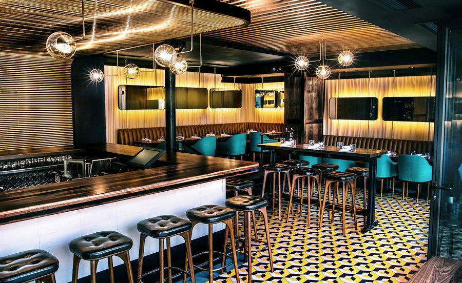 Root restaurant interior design area