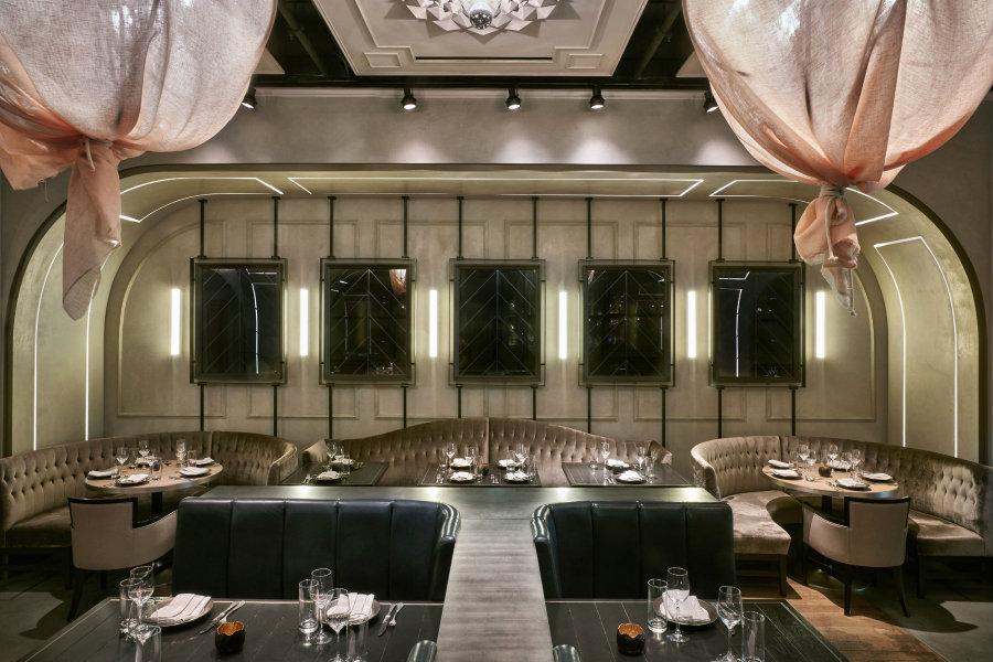 Rose Rabbit Lie dining room area by Avroko