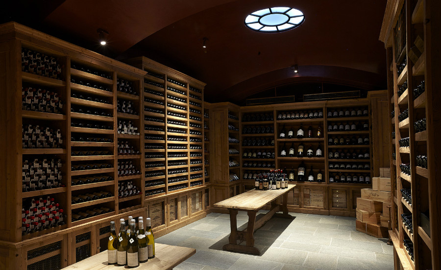 Wine cellar designed by Studio Peregalli