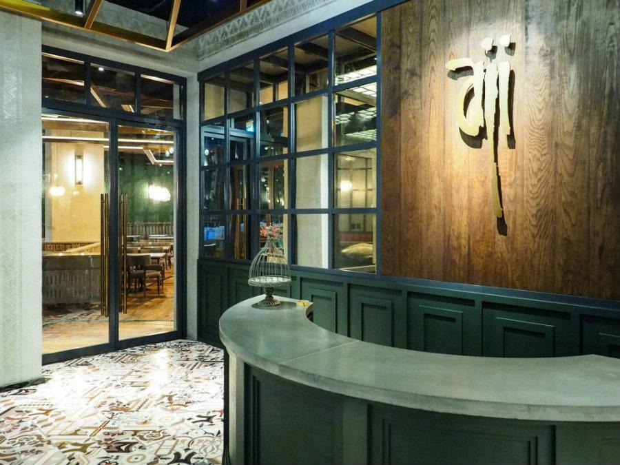 Aji restaurant by Keane Brands, an awarded industrial restaurant design decor