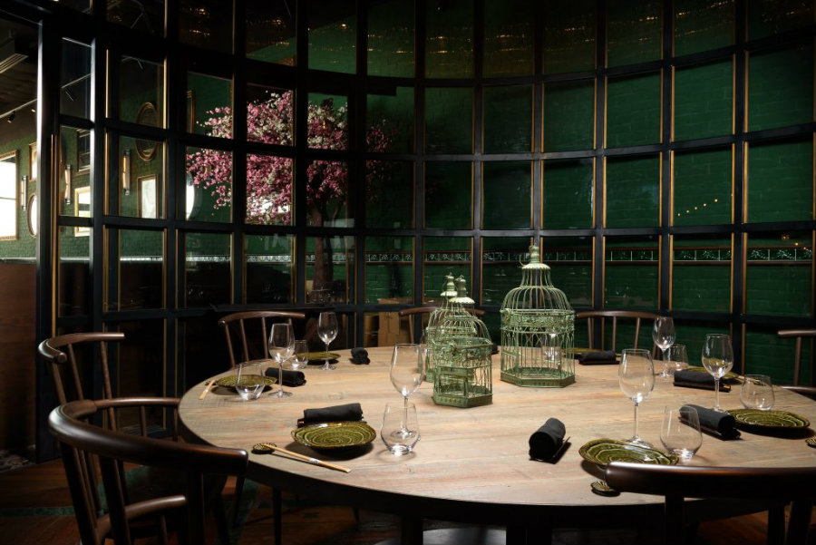 Restaurant private dining room area at Aji