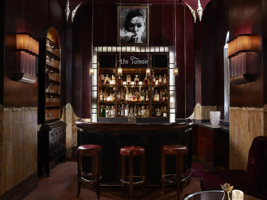 Best London cocktail bars - The Fumoir bar furniture ideas