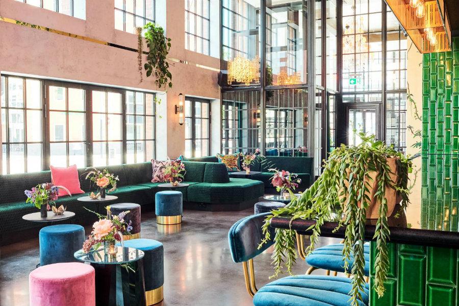 London modern cocktail bars - The Green Room decor ideas