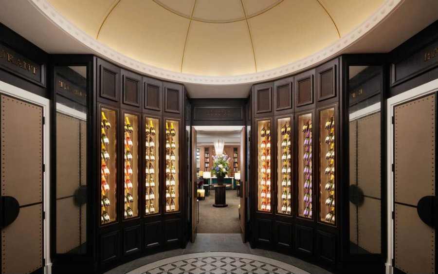 The Carriage House Wine cellar by David Collins