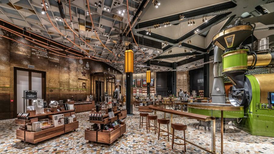 Milan Starbucks cafe furniture ideas