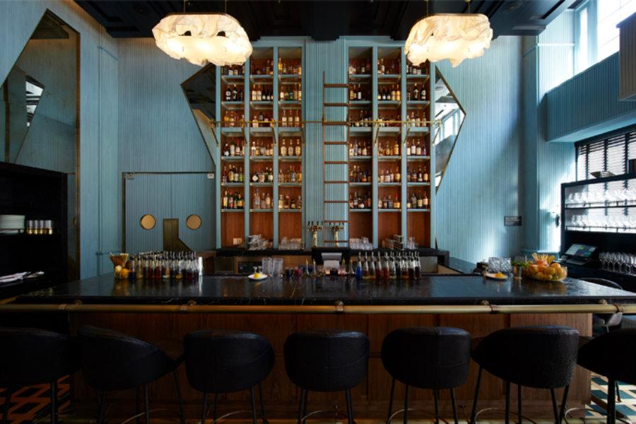 Restaurant Interior Ideas - the exotic Villon by Kelly Wearstler