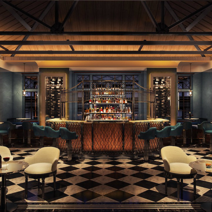 An Opulent Colonial-Inspired Lounge Bar Decor by AB Concept