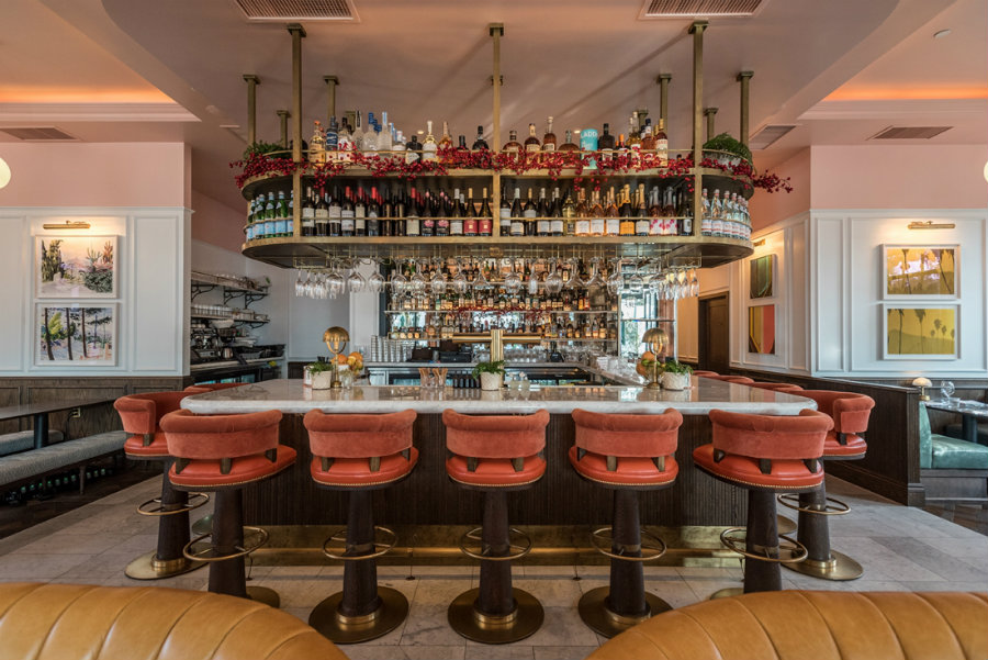Bar stools with backs at The Draycott