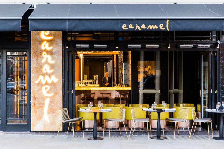 Best London Restaurants Caramel desined by Bishop Design LLC