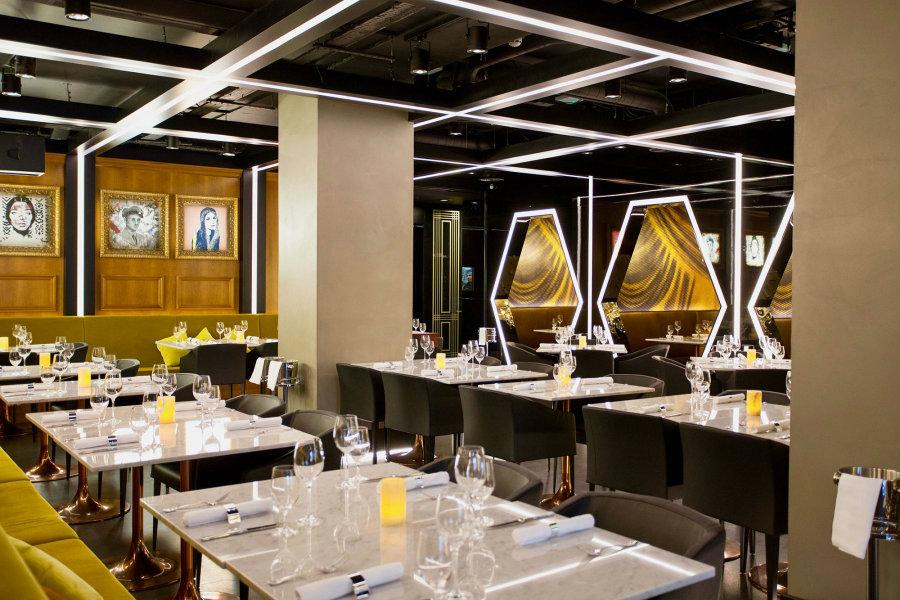 Restaurant Lounge decor ideas Yellow decor scheme