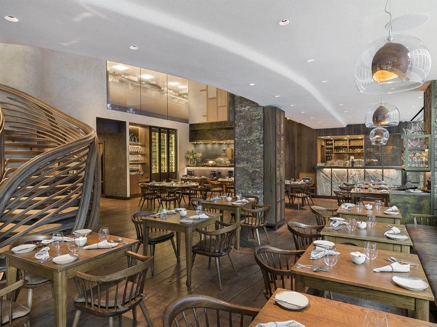 Best London Restaurants - HIDE restaurant seating furniture