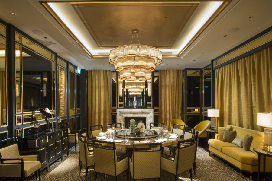 Luxury restaurant decor Madame Fan by Axis ID