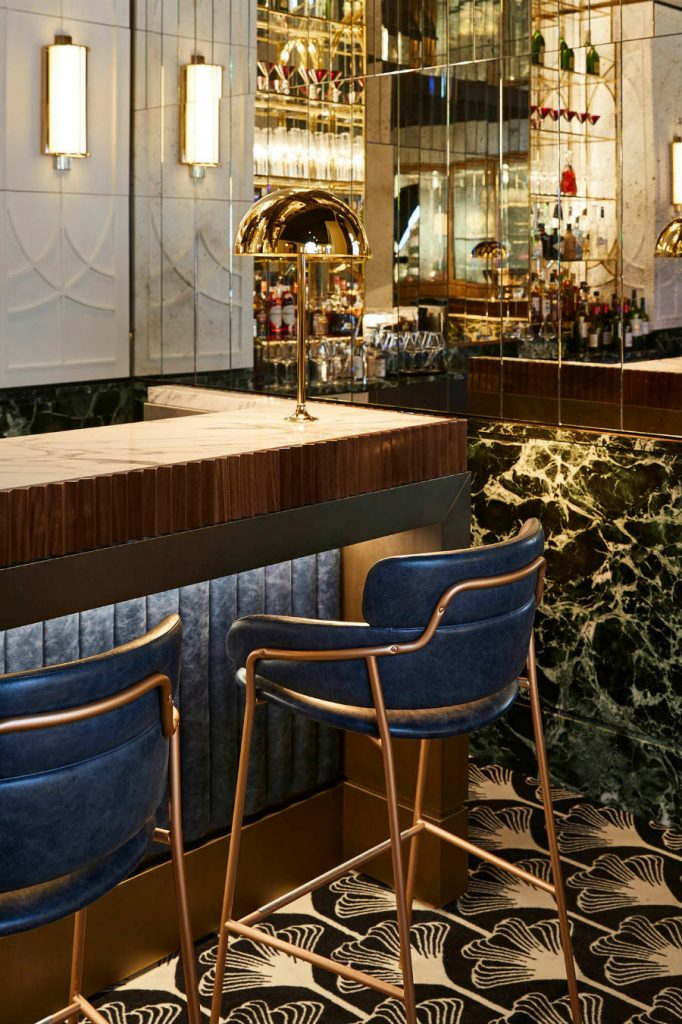 Bar furniture ideas at Beefbar Paris