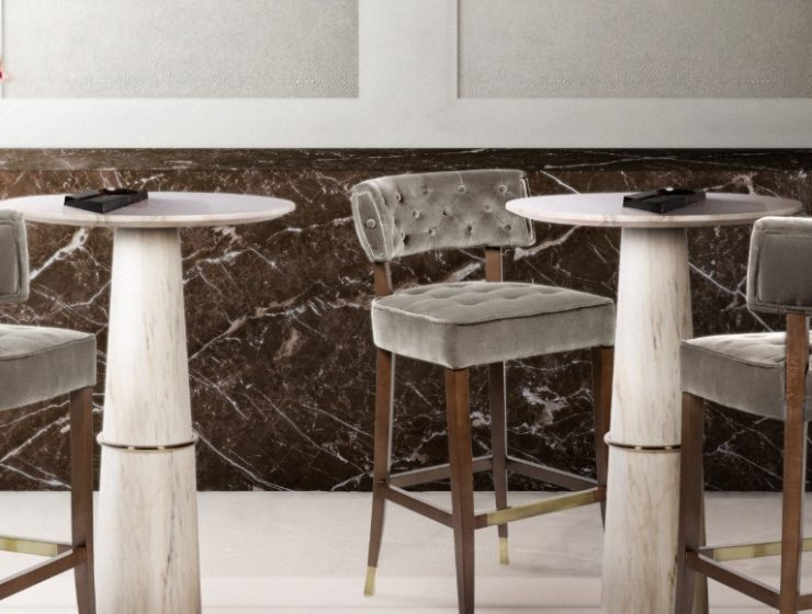 Modern restaurant bar decor